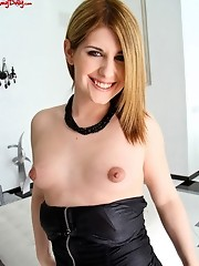 Amy strips out of her black lingerie and plays!
