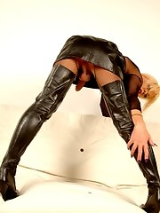 Leather, More Leather and Fishnet