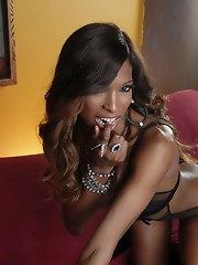 Amazing ebony hottie Natassia strips and poses