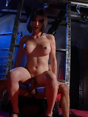 Bondaged Eva gets her tight ass drilled hard