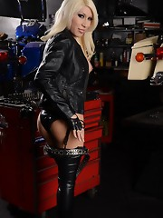 Hot Victoria posing as a naughty mechanic
