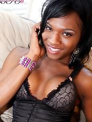 Gorgeous black T-girl