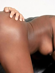 Hot black shemale pounded