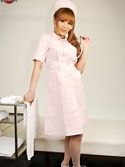 Sexy newhalf Kaede loves playing doctor. She wants to use her sthetoscope to hear your cock pulsing in her eager hands.