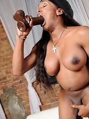 Natalia blowing big black cocks