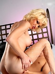 Blonde transsexual hottie Olivia Love getting banged