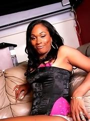 Sexy Black Athena Showing Her Stiff Cock