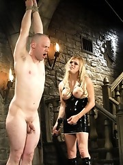 Tranny dominates and ass fucks her sub then cums on his cock