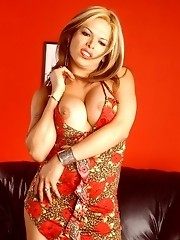 LA Brenda shows what hangs below the skirt
