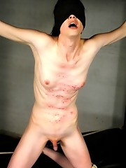 Blindfolded and tied TS gets her brains fucked out